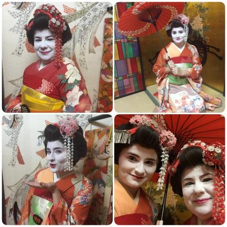Dressed as Geishas, Kyoto, Japan